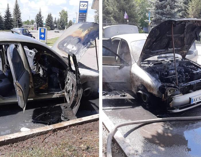пожар авто на АЗС