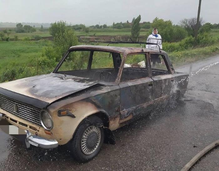 пожар автомобиля на Сиваше 1