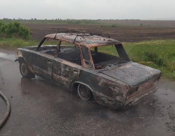 пожар автомобиля на Сиваше 2