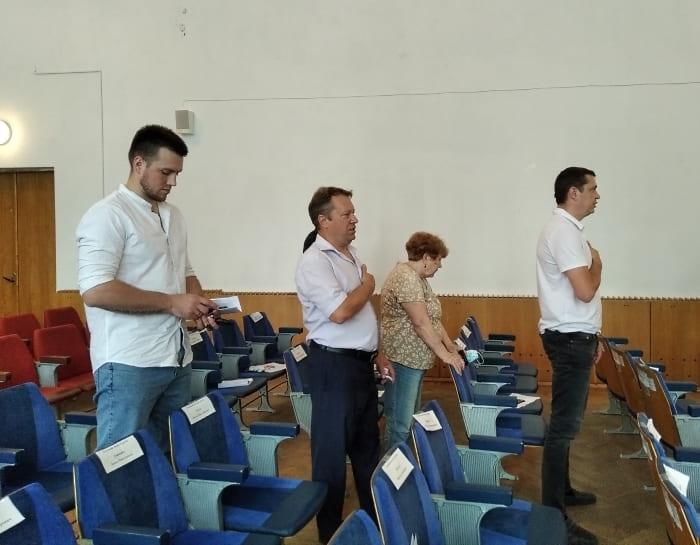 Павленко, Гончаренко, Чемшит на сессии